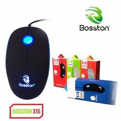 Chuột quang chuyên game có dây siêu nhạy Bosston X15