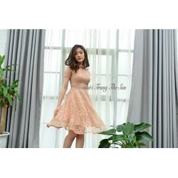 Đầm ren tiểu thư xinh
