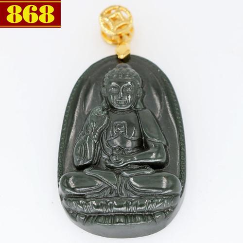 Mặt Phật A Di Đà đá cẩm thạch 3.8cm