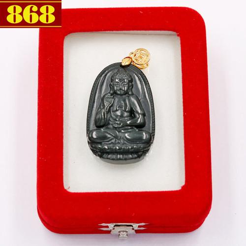 Mặt Phật tổ Như lai đá cẩm thạch 3.8cm kèm hộp nhung