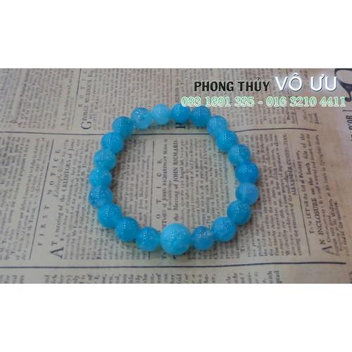 Vòng đá Aquamarine xanh ngọc 8ly