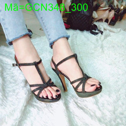 Giày cao gót nữ gót nhọn quai đính kim tuyến sang trọng GCN348