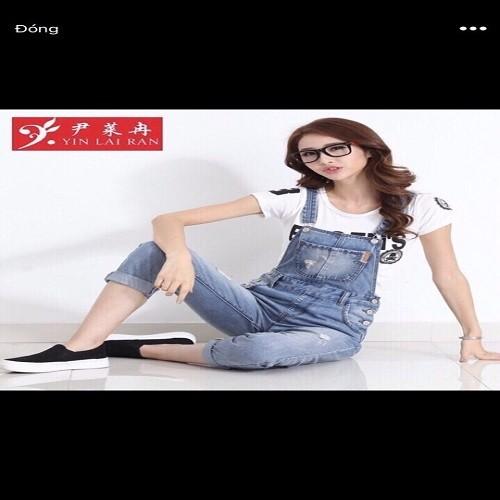 Quần yếm jean dài nữ - 5843662 , 9888277 , 15_9888277 , 230000 , Quan-yem-jean-dai-nu-15_9888277 , sendo.vn , Quần yếm jean dài nữ