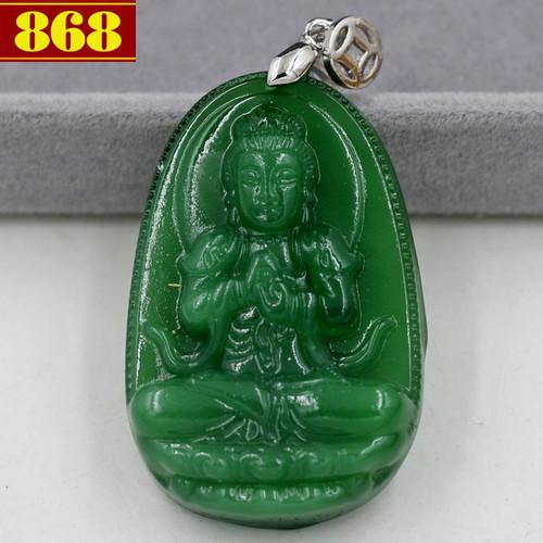 Mặt Phật Như lai Đại nhật thạch anh xanh 4.3cm