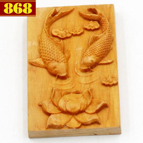 Mặt gỗ hoàng đàn song ngư MG84