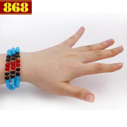 Vòng tay quấn ba đá ngọc tủy VDB1 - 5839612 , 9884518 , 15_9884518 , 210000 , Vong-tay-quan-ba-da-ngoc-tuy-VDB1-15_9884518 , sendo.vn , Vòng tay quấn ba đá ngọc tủy VDB1