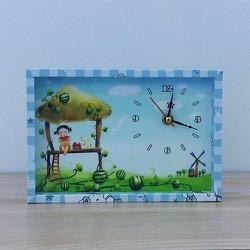 Đồng hồ để bàn dễ thương cho bé DH001 - Xanh Da Trời