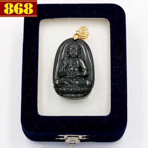 Mặt Phật A Di Đà đá cẩm thạch 3.8cm kèm hộp nhung