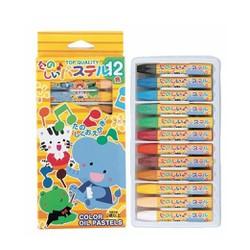 Set 12 bút sáp dầu tô màu cho bé hàng nhập khẩu Nhật Bản