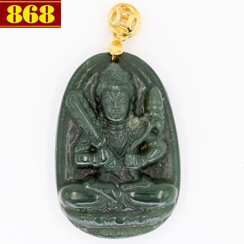 Mặt Phật Hư Không Tạng Bồ Tát đá cẩm thạch 3.8cm