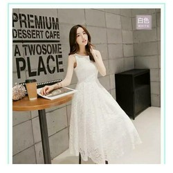 Đầm xòe ren công chúa