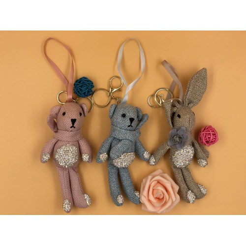 Móc khoá, treo túi xách hình thỏ và gấu - 5863531 , 9906085 , 15_9906085 , 119000 , Moc-khoa-treo-tui-xach-hinh-tho-va-gau-15_9906085 , sendo.vn , Móc khoá, treo túi xách hình thỏ và gấu