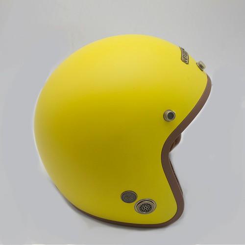 Mũ bảo hiểm 3 phần 4 đầu chuyên phượt cao cấp Everest  NBH42 - Vàng