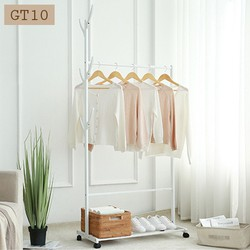 Giá treo quần áo, móc treo, xào treo quần áo chất liệu tre GT10-60cm