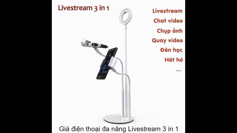 Bộ Giá đỡ Livestream Có Đèn Led Cao Cấp 39