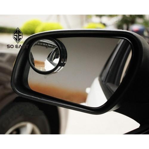 Bộ 2 gương cầu kính lồi 3 cm chiếu hậu xóa điểm mù ôtô