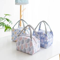 Túi giữ nhiệt họa tiết tròn tam giác hiện đại