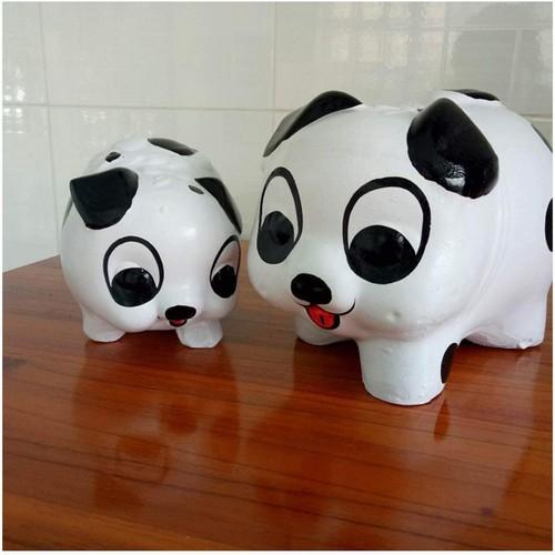Heo Đất Bỏ Tiền, Lợn Đất Tiết Kiệm - Size Lớn Dài 28cm - Quà tặng sinh nhật - Heo Đất Doraemon, Gấu Trúc, Kitty, Pikachu