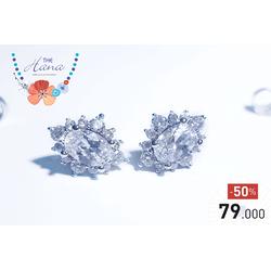 Bông tai Sang Chảnh cao cấp dát vàng Ý và kim cương