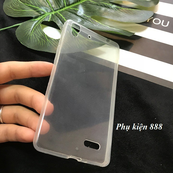 Ốp lưng Oppo R7 Lite silicon dẻo trong suốt 4