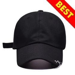 Mũ, nón lưỡi trai khuyên trơn phong cách thời trang Hàn Quốc