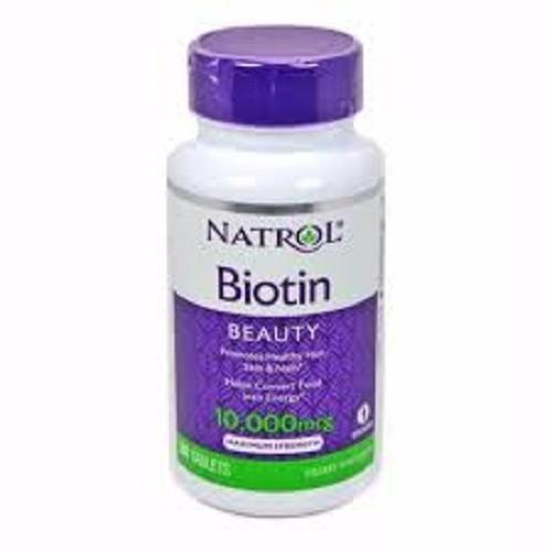 Viên Uống Mọc Tóc Biotin - Natrol 10,000mcg