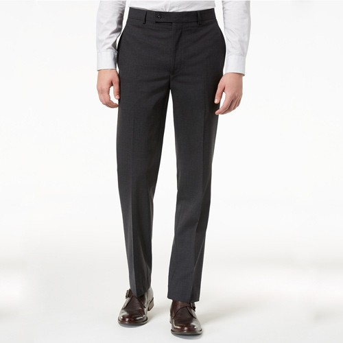 Quần Calvin Klein Slim-Fit Stretch Dress Pants - Charcoal