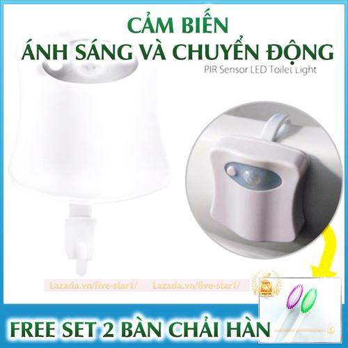 Đèn Led cảm ứng nhà vệ sinh + Tặng set 2 bàn chải Hàn Quốc
