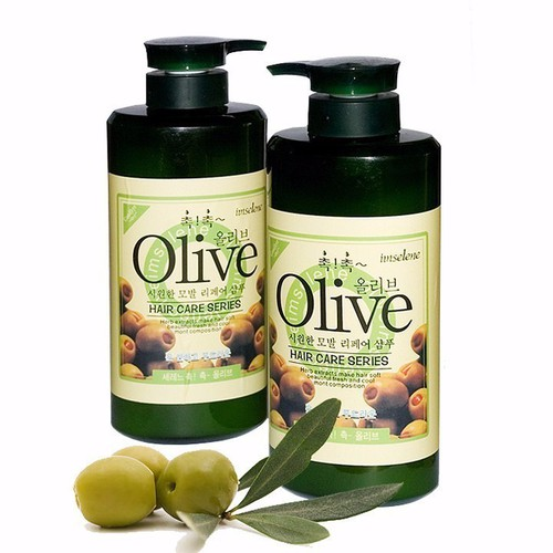 Bộ 2 chai dầu gội và dầu xả olive hàn quốc