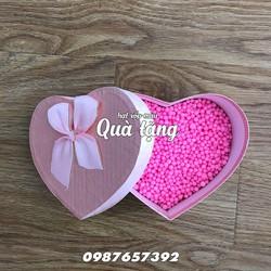 Hộp quà, hộp trái tim hồng, hộp quà sinh nhật, hộp quà Valentine