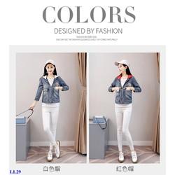 Áo Khoác Jeans Nữ Phối Nón Cá Tính