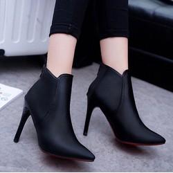 Giày boot nữ cổ thấp mũi nhọn