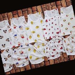 set 5 bộ quần áo trẻ em chất mát