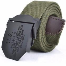 Dây nịt lưng  lính mỹ U.S-Xanh lá