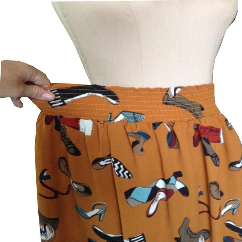 Chân váy maxi lưng thun xòe CV10003 4