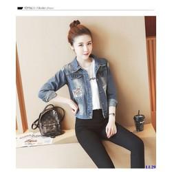 Áo Khoác Jeans Nữ Form Rộng