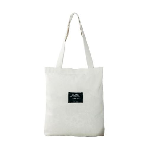 Túi Vải Tote Đeo Vai Living XinhStore - Trắng
