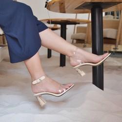 Sandal quai trong gót trong