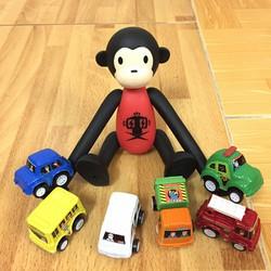 Set 6 xe ô tô mini dây cót
