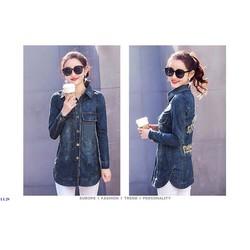Áo Khoác Jeans Nữ Thời Trang Cá Tính