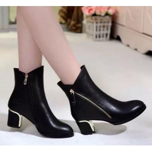 Giày boot nữ cổ thấp sang chảnh
