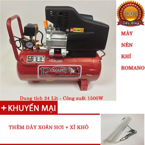 Máy nén khí ROMANO 24L có dầu tặng 1 súng xì khô và dây xoắn hơi 9m - 5869192 , 9915443 , 15_9915443 , 2500000 , May-nen-khi-ROMANO-24L-co-dau-tang-1-sung-xi-kho-va-day-xoan-hoi-9m-15_9915443 , sendo.vn , Máy nén khí ROMANO 24L có dầu tặng 1 súng xì khô và dây xoắn hơi 9m