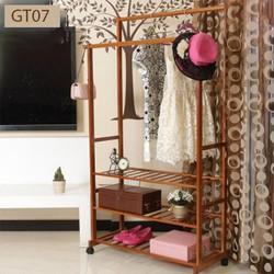 Giá treo quần áo GT07 chất liệu tre chắc chắn bền đẹp
