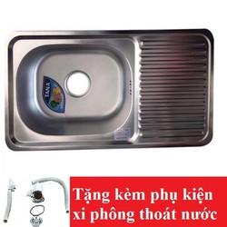 [FREESHIP] Chậu rửa bát Inox Tân Á xuất khẩu 1 ngăn -có bàn phụ