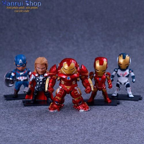 Worldmart mô hình nhân vật biệt đội avenger 9cm bộ 5 nhân vật như hình