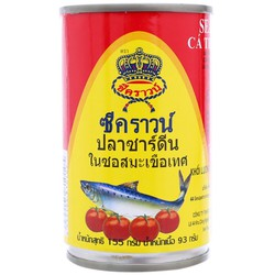 Combo 4 Lon Cá trích sốt cà Sea Crown 155g
