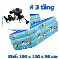 Bể bơi 150cm kèm bơm điện (tặng keo và 2 miếng vá dự phòng bể bơi có chống trơn)