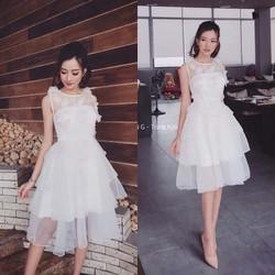 Đầm xòe hoa 3d công chúa thiết kế cao cấp