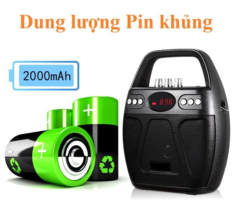 Loa kẹo kéo Bluetooth Echo PKCB-610 cắm Micro thẻ nhớ USB Điện thoại 9