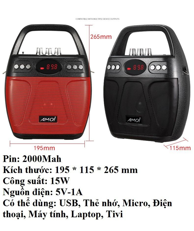 Loa kẹo kéo Bluetooth Echo PKCB-610 cắm Micro thẻ nhớ USB Điện thoại 5